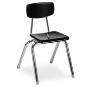 Virco® 3016 Martest 21® Hard Plastic Chair - Black - Pkg Qty 4