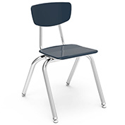 Virco® 3016 Martest 21® Hard Plastic Chair - Navy - Pkg Qty 4