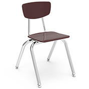 Virco® 3016 Martest 21® Hard Plastic Chair - Burgundy - Pkg Qty 4