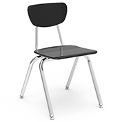 Virco 3018 Martest 21 Hard Plastic Chair Black Package Count 4 by Virco