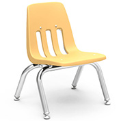 Virco® 9010 Classic Series™ Classroom Chair - Yellow Vented Back - Pkg Qty 4
