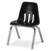 Virco® 9012 Classic Series™ Classroom Chair - Black Vented Back - Pkg Qty 4