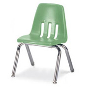 Virco® 9012 Classic Series™ Classroom Chair - Light Green Vented Back - Pkg Qty 4