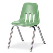 Virco® 9014 Classic Series™ Classroom Chair - Light Green Vented Back - Pkg Qty 4