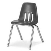 Virco® 9014 Classic Series™ Classroom Chair - Gray Vented Back - Pkg Qty 4