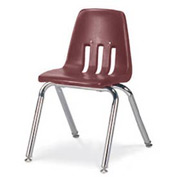 Virco® 9014 Classic Series™ Classroom Chair - Burgundy Vented Back - Pkg Qty 4