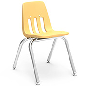 Virco® 9014 Classic Series™ Classroom Chair - Yellow Vented Back - Pkg Qty 4