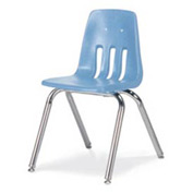 Virco® 9016 Classic Series™ Classroom Chair - Light Blue Vented Back - Pkg Qty 4