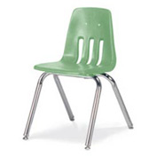 Virco® 9016 Classic Series™ Classroom Chair - Light Green Vented Back - Pkg Qty 4