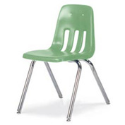 Virco® 9018 Classic Series™ Classroom Chair - Light Green Vented Back - Pkg Qty 4
