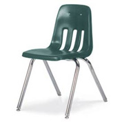 Virco® 9018 Classic Series™ Classroom Chair Forest Green Vented Back - Pkg Qty 4
