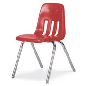 "Classic Series Classroom Chair - Red Vented Back - 18-5/8""W X 30-5/8""H - Pkg Qty 4"