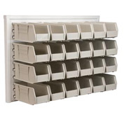 Akro-Mils Ready Space Wall Panel 30536230S With 24 Beige AkroBins 30230
