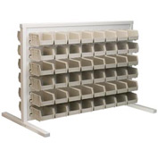 Akro-Mils Ready Space Double Sided Bench Rack 98536210SD With 96 Beige AkroBins 30210