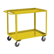 Jamco Yellow All Welded 2 Shelf Stock Cart SB124 24x18 1200 Lb. Cap.