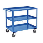 Jamco Blue All Welded 3 Shelf Stock Cart SC248 48x24 1200 Lb. Cap.