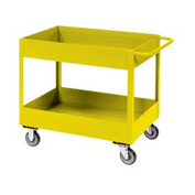 "Jamco Yellow All Welded 3"" Deep Shelf Cart LT236 2400 Lb. Cap. 36x24"