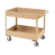 "Jamco Putty All Welded 3"" Deep Shelf Cart LT236 2400 Lb. Cap. 36x24"