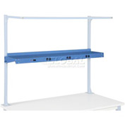"60""W Shelf With Pre-Wired Electric - Blue"