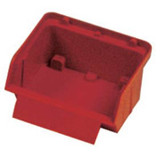 "Quantum Plastic Stack And Lock Bin QCS10 with ID Tab 3-7/8""W x 4""D x 2""H Red - Pkg Qty 48"