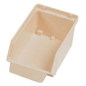"Quantum Plastic Stack And Lock Bin QCS20 with ID Tab 3-7/8""W x 7""D x 2-7/8""H Ivory - Pkg Qty 48"