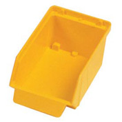 "Quantum Plastic Stack And Lock Bin QCS20 with ID Tab 3-7/8""W x 7""D x 2-7/8""H Yellow - Pkg Qty 48"