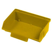"Quantum Plastic Stack And Lock Bin QCS220 with ID Tab 8-7/8""W x 7""D x 2-7/8""H Yellow - Pkg Qty 24"