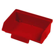"Quantum Plastic Stack And Lock Bin QCS220 with ID Tab 8-7/8""W x 7""D x 2-7/8""H Red - Pkg Qty 24"