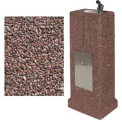 Concrete Upright Drinking Fountain - Red Quartzite