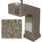 Concrete Outdoor Drinking Fountain ADA Accessible - Gray Limestone