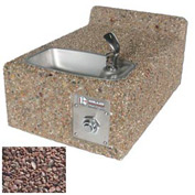 Concrete Wall-Mount Outdoor Drinking Fountain ADA Accessible - Red Quartzite
