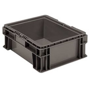 "Buckhorn Straight Wall Container SW1512060206000 Solid 15""L x 12""W x 5-1/2""H, Gray"