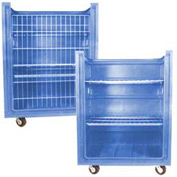 Dandux Blue Plastic Turn Around Truck with Convertible Shelves 511461U 38 Cu. Ft.