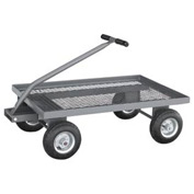 "Jamco Expanded Metal Deck Wagon Truck UW236 36 x 24 with 1-1/2"" Lip Deck"