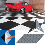 "Vinyl Tile Matting With Adhesive 24""x24"" Diamond Pattern Black case of 10"