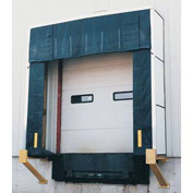 "Vestil Rigid Dock Door Shelter D-750-24 10'W x 10'H with 24"" Projection"