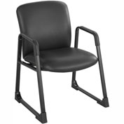 Big & Tall Guest Back Chair Black Vinyl