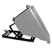 Bayhead Products Gray Plastic Self-Dumping Forklift Hopper 5/8 Cu Yd