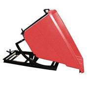 Bayhead Products Red Plastic Self-Dumping Forklift Hopper 5/8 Cu Yd