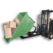 Bayhead Products Green Plastic Self-Dumping Forklift Hopper 1.1 Cu Yd