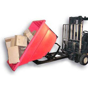 Bayhead Products Red Plastic Self-Dumping Forklift Hopper 1.1 Cu Yd