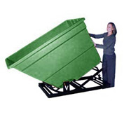 Bayhead Products Green Plastic Self-Dumping Forklift Hopper 1.7 Cu Yd