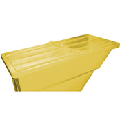 Yellow Hinged Lid for Bayhead Products 2.2 Cu Yd Self-Dumping Plastic Hopper
