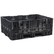 Buckhorn Folding Bulk Shipping Container - BS6448340210002 - 64-1/2x48x34 2000 Lbs. Black
