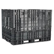 Buckhorn Folding Bulk Shipping Container - BS7048502010002 - 70x48x50 2000 Lbs. Black