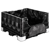 Buckhorn Folding Bulk Shipping Container - BH4845252010000 - 48x45x25 2500 Lbs. Black