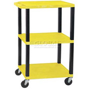 H. Wilson WT42Y-B Yellow Tuffy Garage & Shop Utility Cart 250 Lb. Cap.