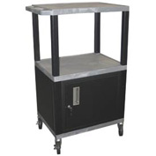 H. Wilson WT42C2 Gray Tuffy Garage & Shop Utility Cart with Cabinet 250 Lb. Cap.