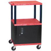 Luxor WT42C2 Red Tuffy Garage & Shop Utility Cart with Cabinet 250 Lb. Cap.