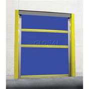TMI Motorized Roll-Up Bug Dock Door with PVC Coated Blue Vinyl Panels 10 x 10